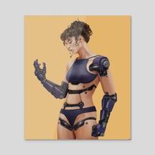 Cyborg 2 - Acrylic by Neil Padaloy