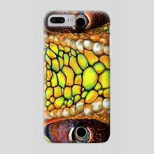 Panther Chameleon front view - Phone Case by Tayla Köhler
