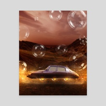 Space Car - Canvas by Sampson Amegah