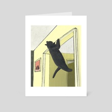 Home Work Out - Art Card by Jonathan Wolfe