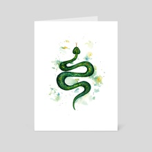 Sap Snake - Art Card by Ilse Åsbakk