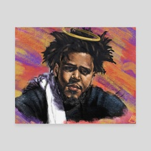 J. Cole - Canvas by Bryce Cobbs