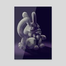 Ancient Fat-Nipples-Bunny Cult - Acrylic by Anibal Cruz