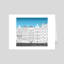 Dancing houses - Amsterdam - Art Card by Janko.