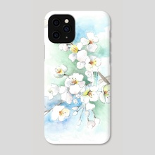 white flowers - Phone Case by Csilla