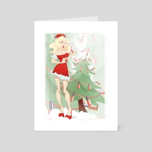 Mrs Santa - Art Card by Polina Trofimova