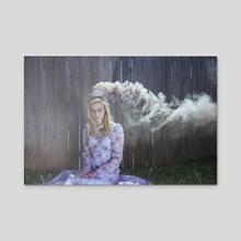 The Tea House - Acrylic by Mark Harless