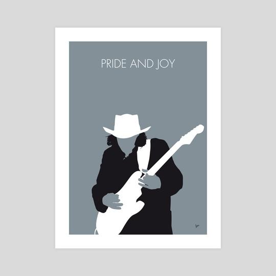 No087 MY Stevie Ray Vaughan Minimal Music poster by Chungkong