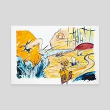 X voYages de Zed - Parcours 1 - Toile 6 - Canvas by Cécile Congost