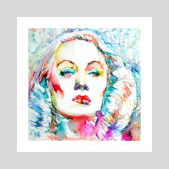 MARLENE DIETRICH - colored pens portrait by LAUTIR