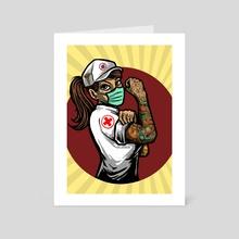 Anti corona nurse - Art Card by Ephrem Rokk