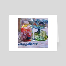 Still life with Candy Jar - Art Card by Francois Shogreen