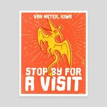 Van Meter Visitor - Canvas by Jonathan Dodd