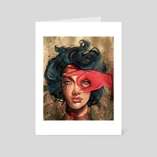Red Vision - Art Card by EJP Paints