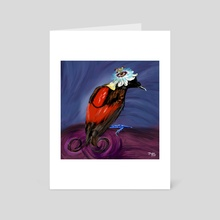 Wilson's Bird of Paradise + Passion Flower - Art Card by Meghan Keeley