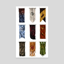 Houses of Westeros - Canvas by Olivia Shetler