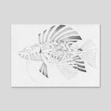 mecha fish - Acrylic by Krzysztof Wielkopolski