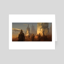 The Pilgrimage - Art Card by Ken Hogan