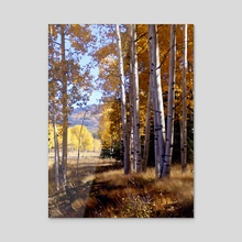 Autumn Paint, Chama New Mexico - Acrylic by Kurt Van Wagner