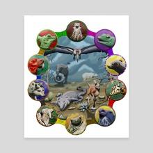Fantasy Zoo - Canvas by Karen Roop