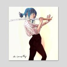 Gabby - Acrylic by Vin Ganapathy