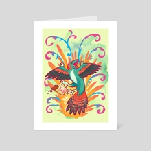 All T, All Shade, All Archaeopteryx - Art Card by Charli Vince