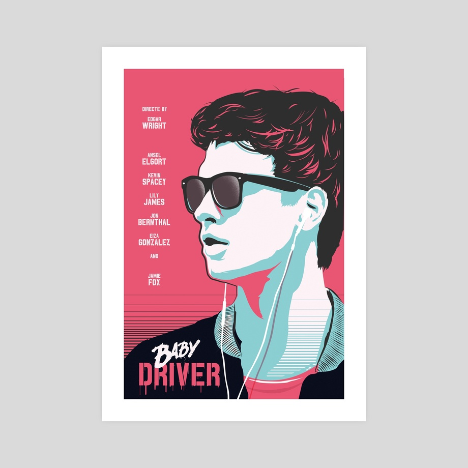 Baby Driver Movie Canvas Print Wall Art Poster