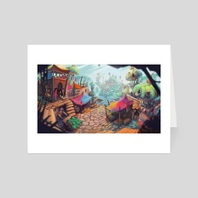 Oriental City Market - Art Card by Oussama Agazzoum