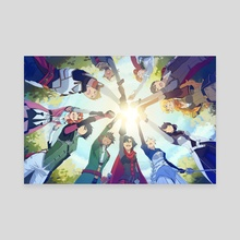 RWBY - Magic Circle - Canvas by Louise stonehill