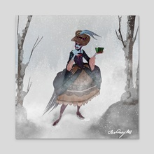 Thanksgiving Witch with Hat - Acrylic by Jenna Gray