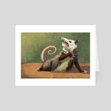 Amateur Opossum Actress - Art Card by Rebecca Kriz