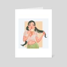 vanilla icecream - Art Card by samreen
