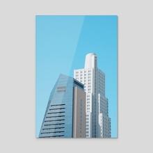 white tower - Acrylic by Maria Ostapchuk