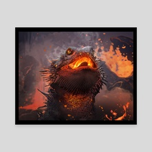 Lava Lizard - Canvas by Todd Ulrich