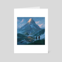 Adam's Peak - Art Card by Matthias Hausmann