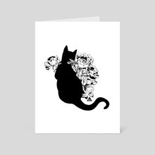 Black Cat - Art Card by Angle