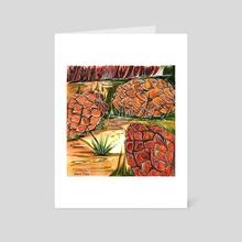PineCones - Art Card by Hannah Maria