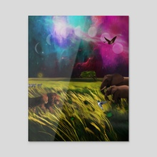 Christian Mythology for Kids - Creation - Acrylic by Chris Zakrzewski