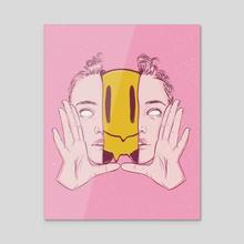 Happy Thoughts - Acrylic by Glenda Medina