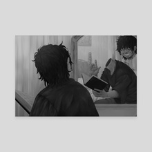 Your doppelganger reflection - Canvas by Natsumen Caps