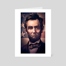 Lincoln - Art Card by Dominick Saponaro