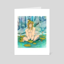Lotus Pool - Art Card by T. A.