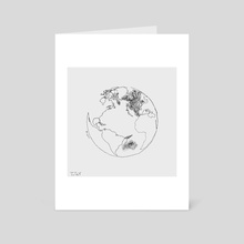 This World (Single Line Drawing) - Art Card by Trae Tay