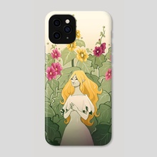 Hollyhocks - Phone Case by Chiara Cuccato