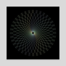 Full Circle Geometric Opart - Canvas by Alice Iranon