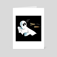 A Fearful Phantom (Black) - Art Card by The Pure Bluff