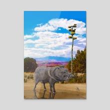 Gila Javelina - Acrylic by Russell Thornton