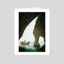 Island of the Blue Dolphins - Exploring - Art Card by Kelley McMorris