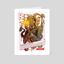 Ace of Diamonds - Art Card by 52 Shades of Greed