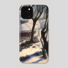 Winter stroll  - Phone Case by Niv Shpigel